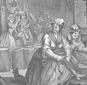 A Harlot's Progress - prisoners, Moll's servant