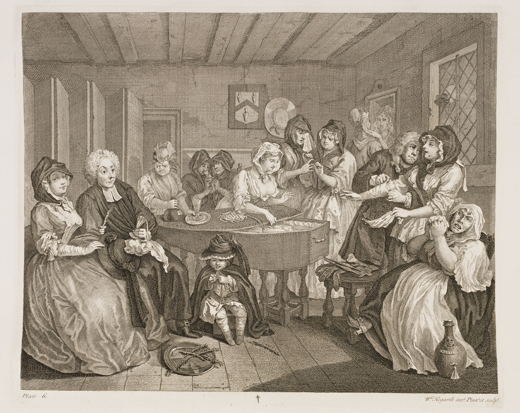A Harlot's Progress, Plate 6