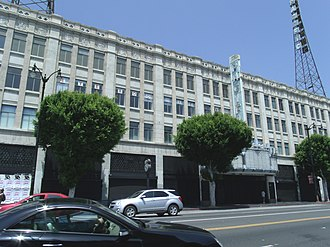 Hollywood Pacific Theatre - This image, taken in 2014, shows the Hollywood Pacific Theatre building in state of abandonment.