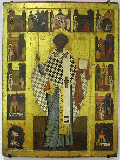 https://upload.wikimedia.org/wikipedia/commons/thumb/8/8f/Holy_Bishop_Clement%2C_Pope_with_Scenes_from_his_Life%2C_Arkhangelsk.JPG/396px-Holy_Bishop_Clement%2C_Pope_with_Scenes_from_his_Life%2C_Arkhangelsk.JPG