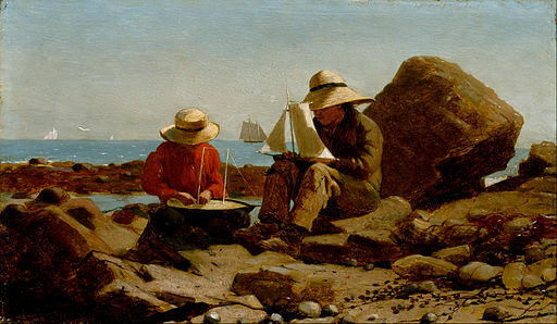 Homer, Winslow - The Boat Builders - Google Art Project