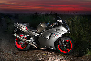 Honda CBR1100XX during sunrise.jpg