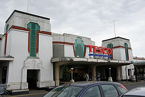 Hoover Building - Entrance to Tesco Supermarket extension at the back of the Hoover Building
