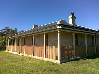 Hornby Lighthouse - One of the keeper cottages near Hornby Lighthouse