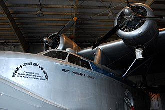 Howard Hughes - The S-43 Sikorsky in Brazoria County Airport in Texas