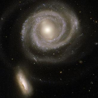 NGC 5752 - NGC 5752 (bottom) and NGC 5754 by Hubble Space Telescope