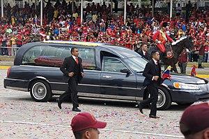Death of Hugo Chávez - Hearse carrying Hugo Chávez's remains