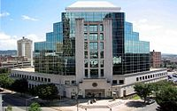 Exterior view of the Hugo L. Black Federal Courthouse building in Birmingham, Alabama