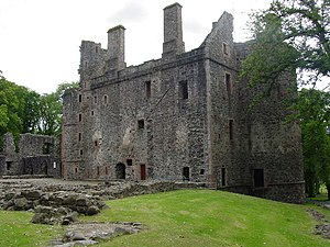 Huntly Castle - Rear courtyard ruins of Huntly Castle
