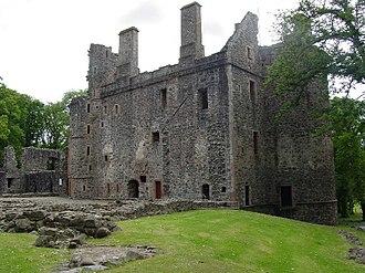 Huntly Castle - Rear courtyard ruins of Huntly Castle