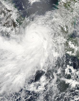 2013 Pacific hurricane season - Image: Hurricane Barbara 2013 05 29 1928Z
