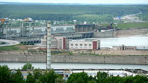 Nizhnekamsk Hydroelectric Station - The hydroelectric power plant