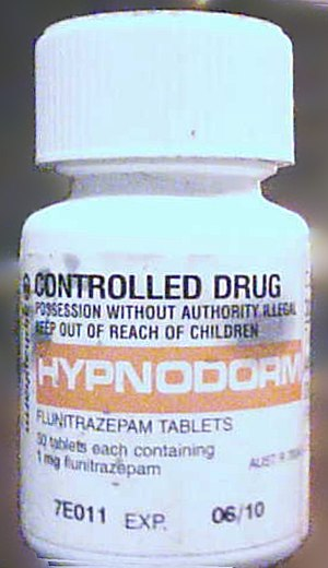 Flunitrazepam - Hypnodorm 1 mg flunitrazepam tabs, Australia