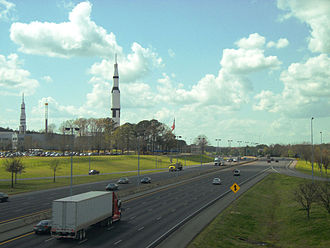 Interstate 565 - I-565 passing by the US Space and Rocket Center