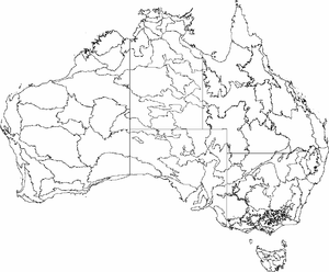 Regions of Tasmania - IBRA 6.1 regions map
