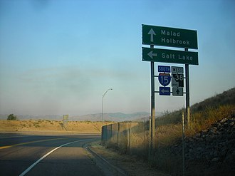 Idaho State Highway 38 - Sign near the eastern terminus of SH 38, on the west side of I-15, July 2007