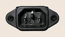 C14 panel mounted male connector (inlet)