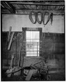 INTERIOR, NORTHWEST WALL - Baker-Booth Blacksmith Shop, Lear Hill Road, West of Route 10, Goshen, Sullivan County, NH HABS NH,10-GOSH,2-11.tif