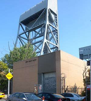 221st Street (IRT Broadway–Seventh Avenue Line) - The Harlem River Substation near the site of the former 221st Street station.