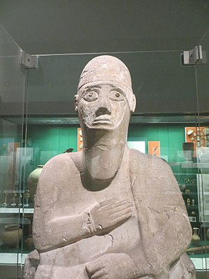 Alalakh -  Statue of Idrimi in the British Museum