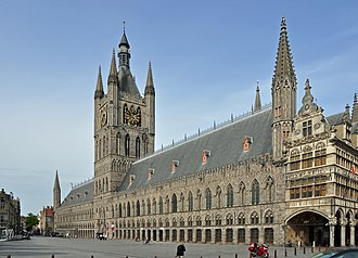Ypres Cloth Hall - Modern-day view of the reconstructed Cloth Hall