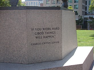Inscription <<If you work hard good things will happen>> by Charles Gwynn, Tony Gwynn's father If you work hard good things will happen.jpg