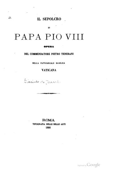 File:Il sepolcro di papa Pio VIII (de Ferrari).djvu