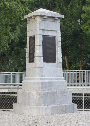 Ljubljana Marshes - Monument on the Iščica River