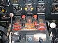 Ilyushin Il-14 central cockpit controls.JPG