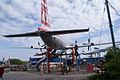 Ilyushin Il-18E Coot Czech Airlines OK-PAI RSideRear SATM 05June2013 (14414071628).jpg