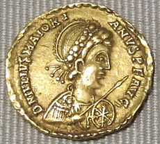 Impero d'occidente, maggioriano, solido in oro (arles), 457-461.JPG