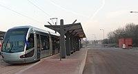 Inauguration de la branche vers Vieux-Condé de la ligne B du tramway de Valenciennes le 13 décembre 2013 (018).JPG