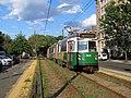 Inbound train at Hawes Street (1), August 2016.JPG