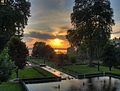 India - Srinagar - 032 - sunset at Nishat Bagh Mughal Gardens HDR.jpg