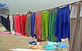 India - Varanasi - 031 - laundry on the ghats (2146294851).jpg