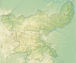 India Jharkhand relief map.png