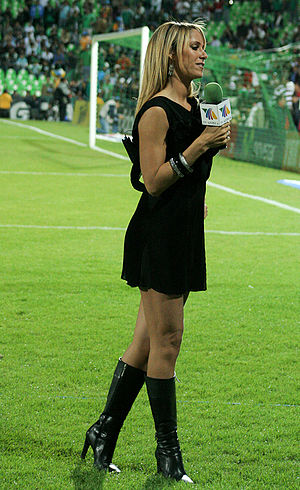 Inés Sainz - Inés Sainz at the Mexico vs. North Korea international friendly football match in Torreón, Coahuila, Mexico, on March 17, 2010.
