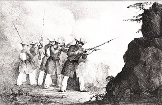 Battle of Andoain - Navarrese infantry in the First Carlist War