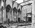 Interieur van de kerk naar het zuid-westen na de brand - Haastrecht - 20099488 - RCE.jpg
