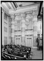 Interior, detail of south wall - First Presbyterian Church, 154 Fifth Avenue, Nashville, Davidson County, TN HABS TENN,19-NASH,13-7.tif