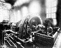 Interior of powerhouse showing second generating unit, April 17, 1904 (SPWS 418).jpg
