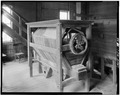Interior view, second floor, showing detail of Lima bolter. - Fisher-Fallgatter Mill, Waupaca, Waupaca County, WI HAER WIS,68-WAUP,1-22.tif