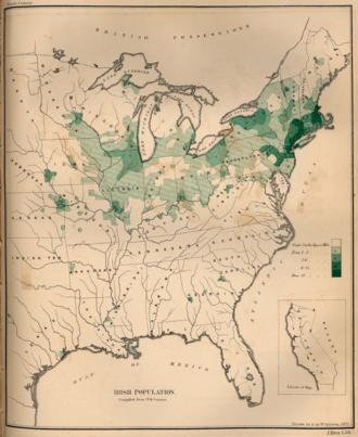 History of the Irish in Saint Paul - Note the relatively large density of Irish around Saint Paul.