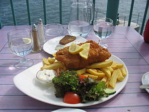 English: Fish and chips in Ireland