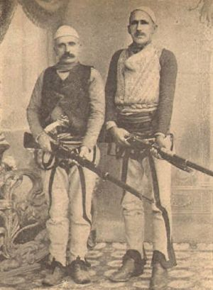 Isa Boletini - Boletini and friend, ca. 1900.