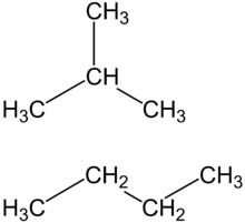 isomère methylpropane et butane