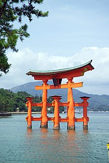 <i>Torii</i> Traditional Japanese gate