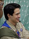 man in Boy Scout uniform, celebrated his 27th birthday at the BSP headquarters in Manila