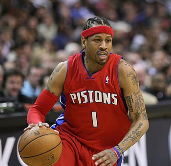 English: Allen Iverson, of the National Basket...