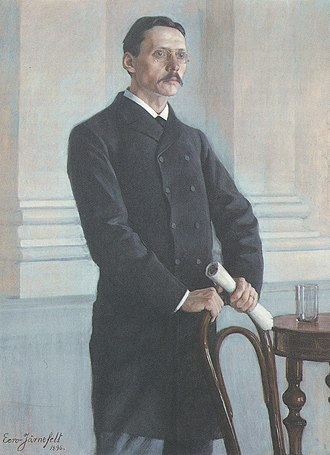 Johan Richard Danielson-Kalmari - J. R. Danielson, portrait by Eero Järnefelt from 1896.